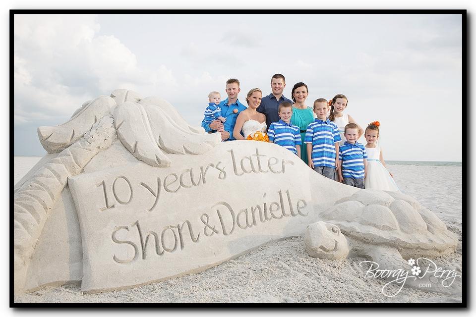 Florida Beach Wedding Sand Sculpture